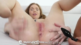 MyVeryFirstTime - Perky RedHead Olivia Lee excited for dick in her ass