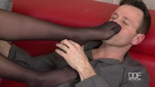 Threesome starlets in footjob gorgeous fantasy euro foot in