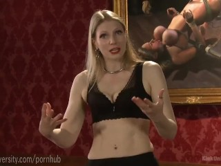 Train a male slave for penetration, Big boobs review