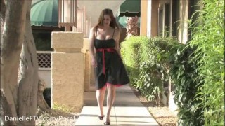 Danielle FTV - Hot Dress to Go - Public Nudity/Masturbation