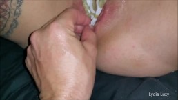 Lydia Luxy fisting panty stuffing creampie and anal