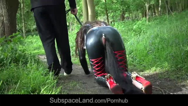 Sexy Latex Bodysuit, Facemask, Anal Plug And More In Hot -4332