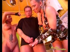 Lucky Slave Given Sex By Two Mistresses