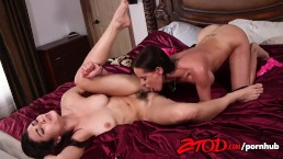 ZTOD - Brandy Aniston and Raven attack each others pussies