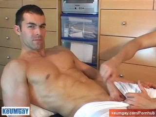 Nicolas's big cock gets wanked by a client for money !