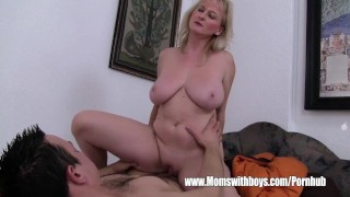 Lazy Stepson Sexually Punished By His Blonde Stepmom