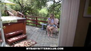 Preview 1 of MyBabySittersClub - Petite Baby Sitter Caught Masturbating