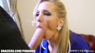Sexy milf Rebecca Moore takes big dick - Brazzers