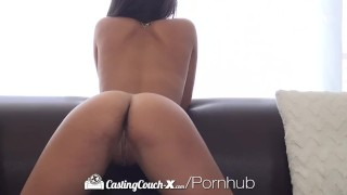 CastingCouch-X - Sexy Gabriella Ford gives latin beauty thick cock porno
