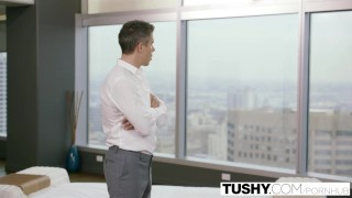 Preview 5 of TUSHY Beautiful Natural Brunette Anna Morna Tries Anal