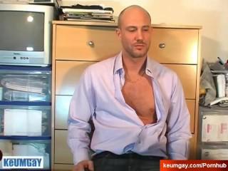 Vendor (hetero) gets sucked his big cock by a client to win a contract!