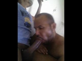 huge dick sucking