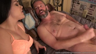Kimber Woods Receives A Pounding While Husband Watches And Eats Up Cum