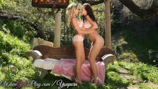 When Girls play - Blonde and Brunette get along Very well