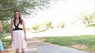 Lia Meets Danielle Pt.1 & Pt. 2 - Public Nudity, Upskirt, Boob Play