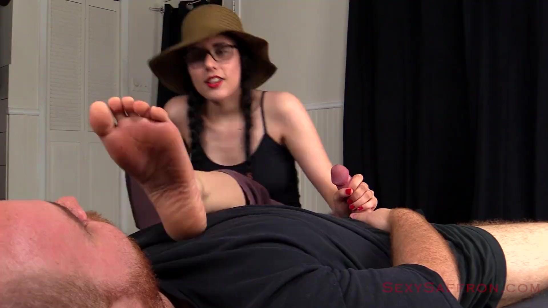 Foot Smelling Handjob And Blowjob After Dancing