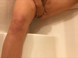 CREAMY SHOWER SQUIRT SESSION WHILE HUBBY WAS AT WORK