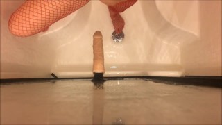 The in some dildo shower anal and mounted a fucking huge mom