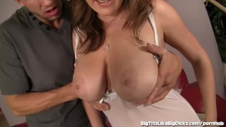 Big Natural Boobs Get Fucked and Cummed On! Black jerking