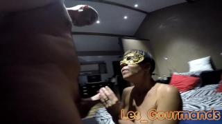 Dogging blowjob new with mask cumshot amateurs ejac
