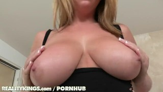 Busty blonde kings brunette and share cock reality big huge