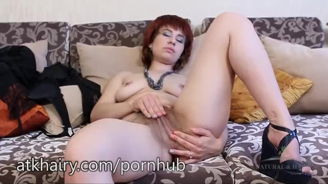 Alex shows off her hairy muff 13