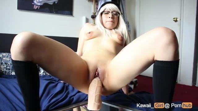 Big Tit Teen Riding Dildo