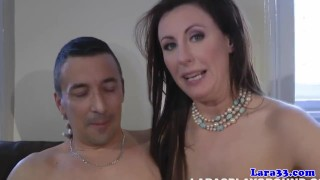 British glamour milf fucks stranger to climax