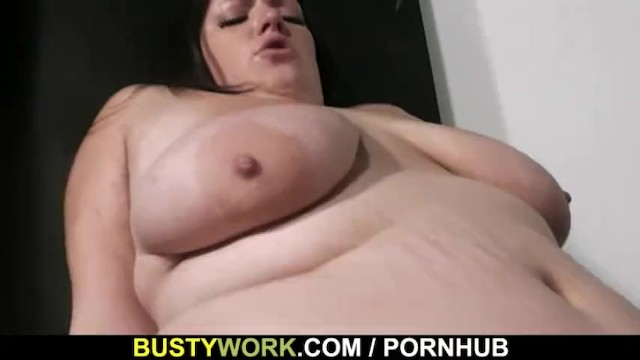 Busty Plumper Rides Stranger's Cock