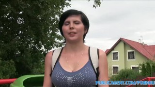 PublicAgent Quiet 19 year old with big tits fucked in photo studio Fuck fuck