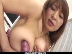 BustyHikaru Wakabayashi goes wild on a tasty dong
