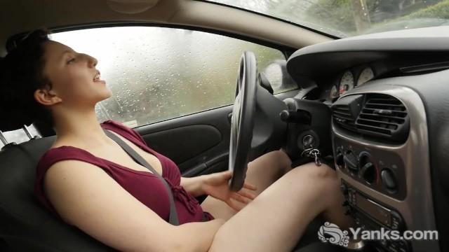 Busty jenny Busty jenny masturbating in the car
