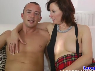 Euro milf fucked by carpark security gaurd