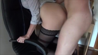 Double Penetration with Big Strap on in Ass and Cock in Pussy and squirting  strap on ass fuck homemade dp strapon squirt amateur hardcore squirting fisting rough anal orgasm doggystyle double penetration dp strap on and cock