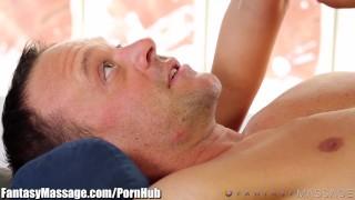 Grey keisha on top fantasymassage gets massage old