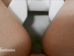 Amateur Public PIss in Toilet female POV