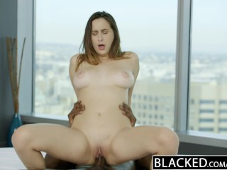 BLACKED Busty brunette Ashley Adams first BBC