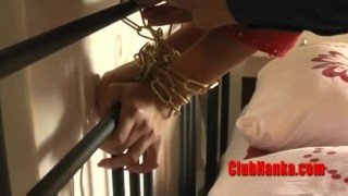 Milf blonde chained hot masturbation masturbate