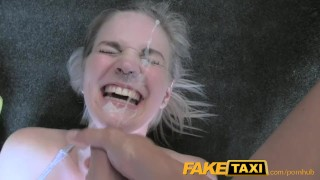 FakeTaxi Cabby tries his beginners luck on hot blonde with big tits  car sex blowjob public pov camera busty ball licking faketaxi spycam dogging rough drilled deepthroat facial trimmed cunt