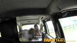 Faketaxi his tries tits big luck blonde hot with beginners on cabby car rough