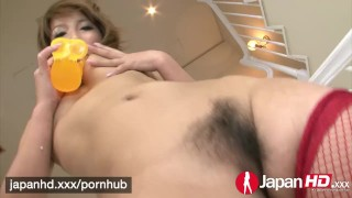 JAPAN HD Gorgeous Japanese Akiho knows her dildo