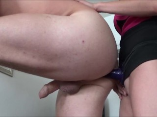 Preview 4 of Wife Pegging her Husband by Huge Strapon