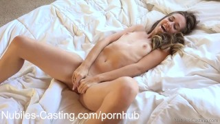 Petite casting cutie Cassidy Klein takes on big dick Bigcock jerking