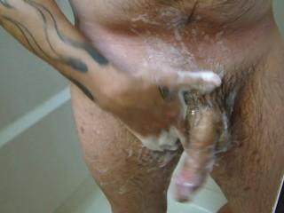 Washing MY 10 INCH Cock!