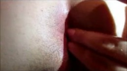 Giving hubby a ass massage after fucking him sore with my 8inch dildo