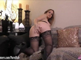 Angela Sommers dirty talk masturbation and pov cock ride