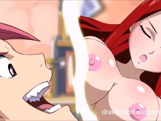 Preview 5 of Fairy Tail XXX - Natsu and Erza... and Lucy!