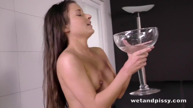 Lovely young chick loves to pee so much 20