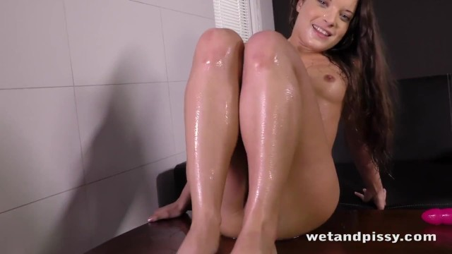 Lovely young chick loves to pee so much 40