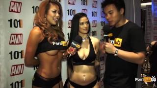 PornhubTV Katrina Jade Interview at 2015 AVN Awards School tits